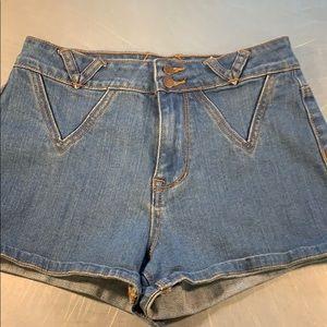Erin Wasson denim shorts